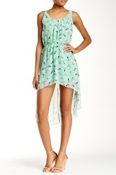 L'atiste Hi Lo Skull Dress Green
