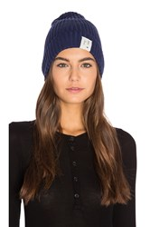 Scotch And Soda Rib Knitted Beanie Blue