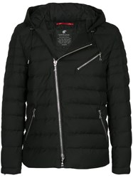 Loveless Hooded Padded Jacket Polyester Rayon Black