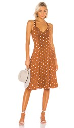 House Of Harlow 1960 X Revolve Solita Dress In Brown. Brown And White Dot