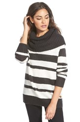 Junior Women's Element 'Connie' Stripe Cowl Neck Sweater