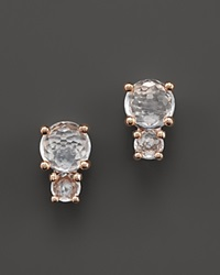 Ippolita Rock Candy Rose Two Stone Stud Earrings White