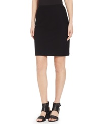 Eileen Fisher Solid Pencil Skirt Black