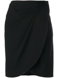 Emporio Armani Ruched Fitted Mini Skirt Black