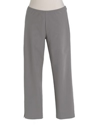 Eileen Fisher Petite Side Zip Cropped Pants Stone