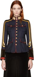 Dsquared2 Navy Military Jacket