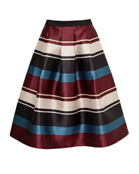 Ted Baker Majida Antique Stripe Full Midi Skirt Black
