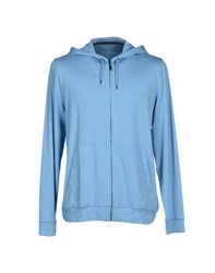 Derek Rose Topwear Sweatshirts Men Azure