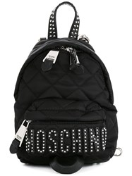 Moschino Quilted Mini Backpack Black