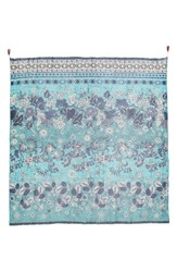 Fuzzi Women's Beaded Batik Print Scarf