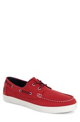 Timberland Men's 'Newport Bay' Boat Shoe Red Washed Canvas