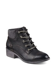 Sperry Juniper Quay Leather Ankle Boots Black