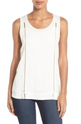 Women's Pleione Drop Stitch Detail Tank Off White