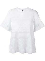 M Missoni Knitted T Shirt White