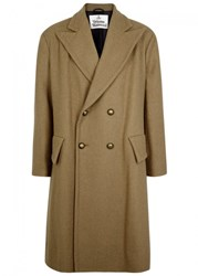 Vivienne Westwood Taupe Double Breasted Wool Coat Beige