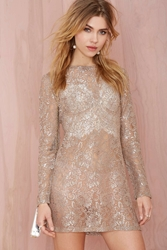 Nasty Gal After Party Vintage Allie Metallic Lace Dress