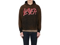 Madeworn Men's Slayer Cotton Blend Hoodie Black Red White Black Red White