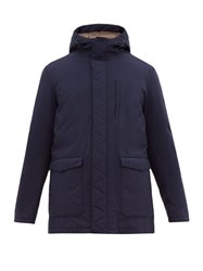Herno Technical Feather Filled Hooded Jacket Navy