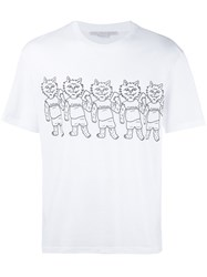 Stella Mccartney Cat Print T Shirt White
