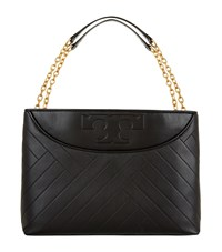 Tory Burch Alexa Quilted Leather Tote Bag Female Black