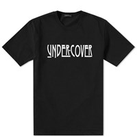 Undercover Rock Logo Oversized Tee Black