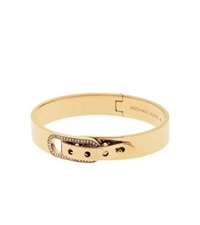 Michael Kors Pave Gold Tone Buckle Bangle