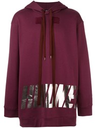 N 21 No21 Metallic Print Hoodie Pink Purple