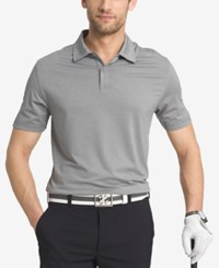 Izod Men's Striped Performance Golf Polo Grey