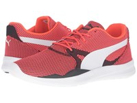 Puma Duplex Evo Knit Red Blast Glacier Gray Men's Running Shoes