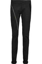 Rick Owens Aircut Detroit Low Rise Zipped Skinny Jeans Black