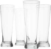 Cb2 Set Of 4 Tall Beer Glasses