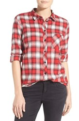 Women's Kut From The Kloth 'Collin' Woven Plaid Shirt