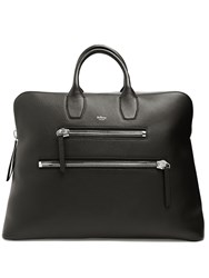 Mulberry Chunky Zip Grained Leather Holdall Black