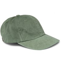 J.Crew Garment Dyed Cotton Twill Baseball Cap Green