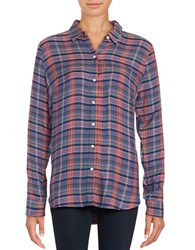 Lucky Brand Plaid Button Front Shirt Purple