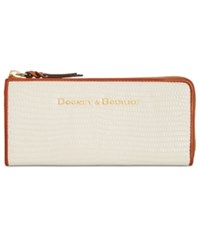 Dooney And Bourke Continental Zip Clutch Wallet Bone