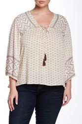 Angie Peasant Blouse Plus Size Multi