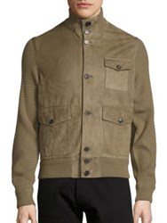 Ralph Lauren Suede Skeet Jacket Dusty Sage