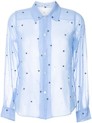 Jupe By Jackie Floral Pattern Shirt Blue