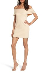 Wayf Women's Off The Shoulder Body Con Dress Natural