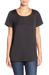 Women's Pleione Cap Sleeve High Low Top Black