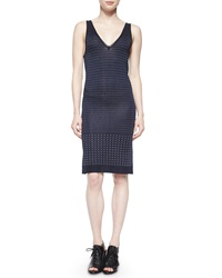Rag And Bone Abigale Dot Knit Body Conscious Dress