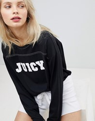 Juicy Couture By Logo Long Sleeve Top Pitch Black