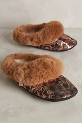 Anthropologie Ariana Bohling Scuff Slippers Novelty M Lounge