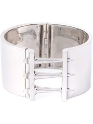Stephen Webster Sterling Silver Spiked Cuff Metallic