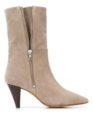 Iro Pointed Toe Boots Neutrals