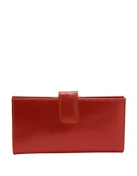 Tusk Slim Leather Clutch Wallet Red