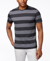 Alfani Red Men's Heather Wide Stripe T Shirt Only At Macy's