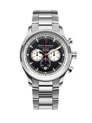 Jack Mason Nautical Chronograph Stainless Steel Bracelet Watch Silver