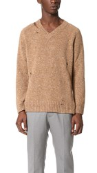 Marc Jacobs Olympia Destroy Sweater Camel